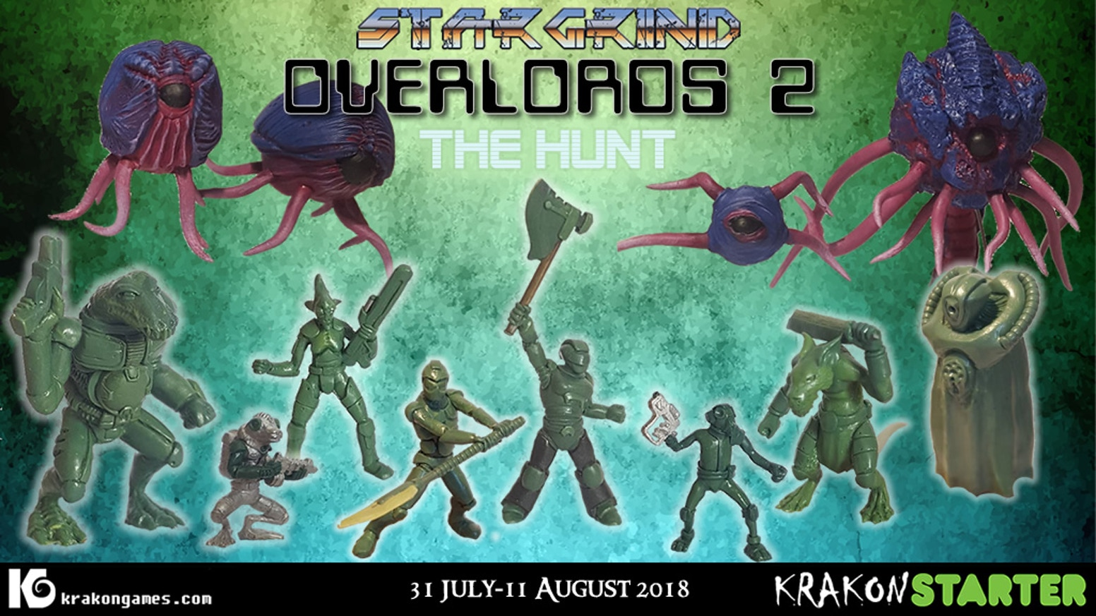 The second wave of Overlords & related Stargrind miniatures