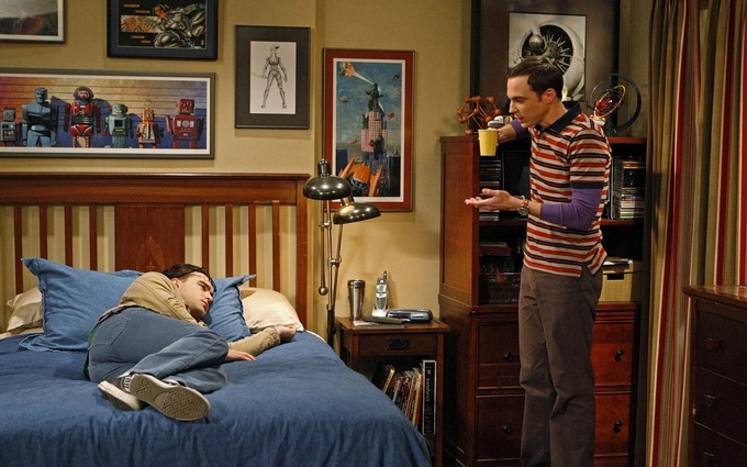 "Robots and Donuts art on the ""Big Bang Theory"""