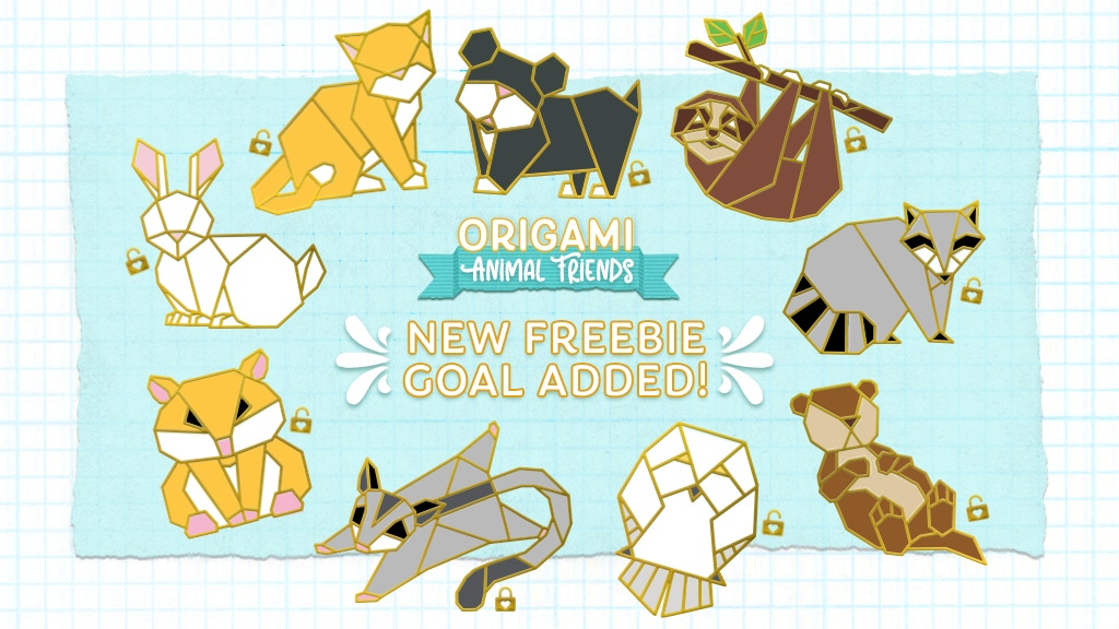 Origami Animal Friends Hard Enamel Pins