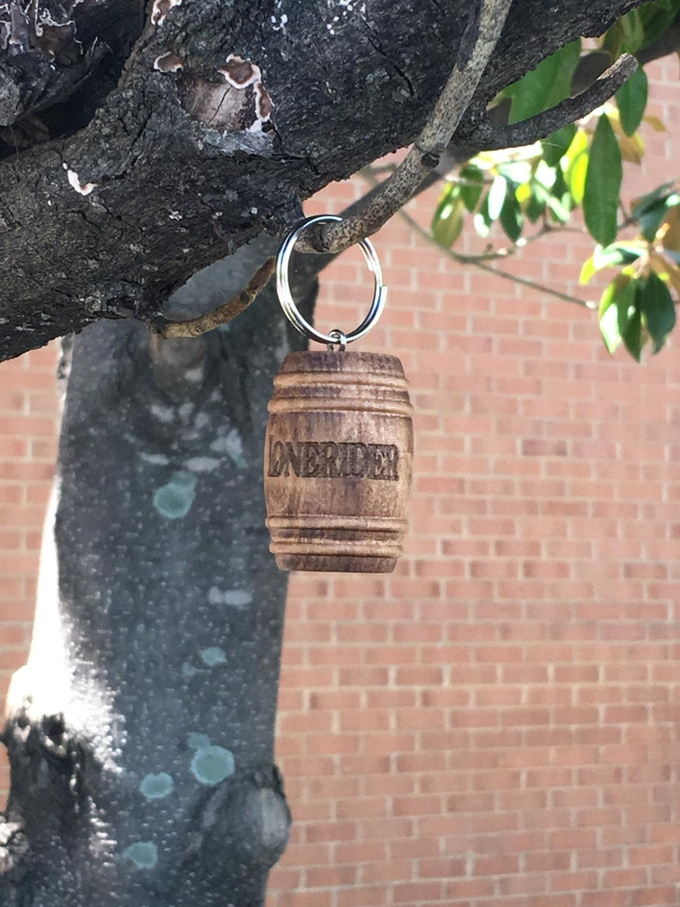 Lonerider Spirits Barrel Keychain