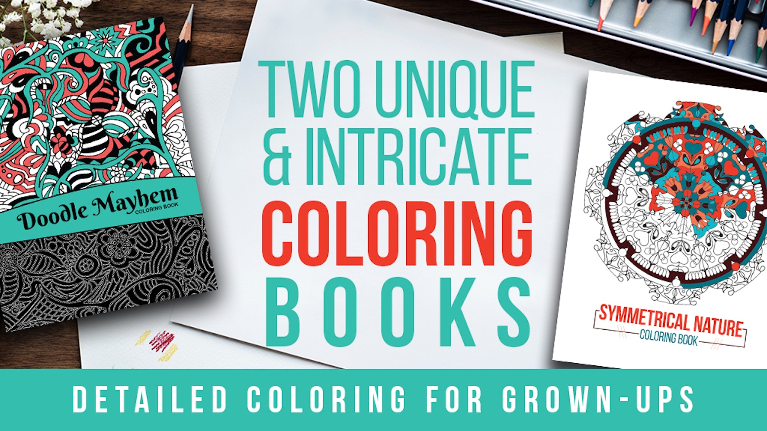 Two Unique and Intricate Coloring Books by Janae Newman ...