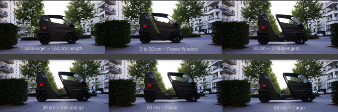 Use the size based on your needs without changing width or height at all while keeping the vehicle small, compact, useful and safe.