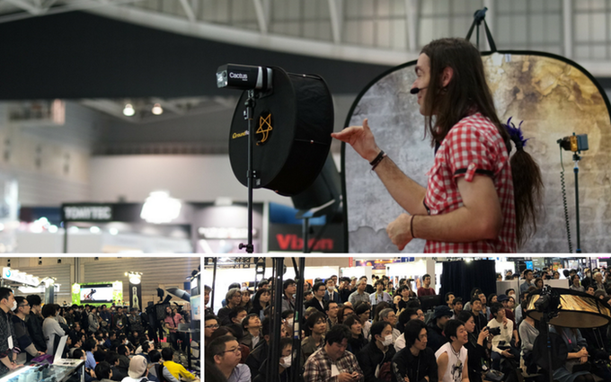 A large crowd turned out at CP+ centre stage on March 3, 2018, when Cactus Ambassador Ilko Allexandroff introduced the RQ250 (prototype).
