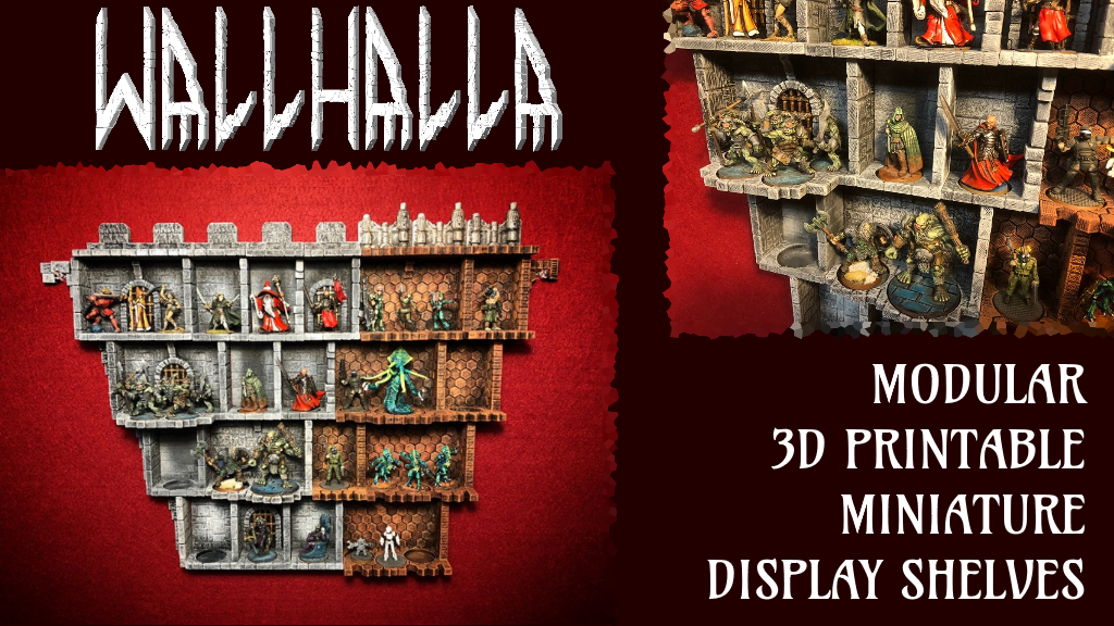 Wallhalla: Modular Miniature Display Shelves project video thumbnail