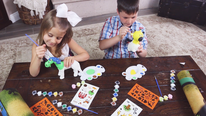 1st Washable Re-Paintable Soft & Squishy Children's Toy Line