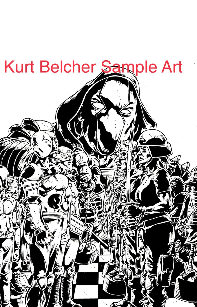 Sample art for the Kurt Belcher reward. This image is not included in Always Punch Nazis.