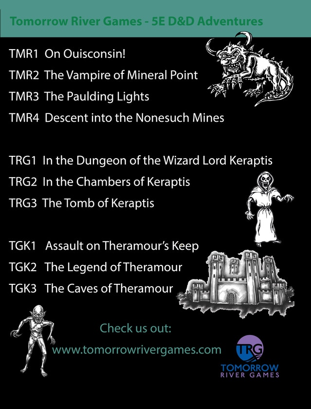 In the Dungeon of the Wizard Lord Keraptis (TRG1 & TRG2) by Tim