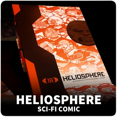 Heliosphere is a book about a girl named Maya who goes to a dystopian biopunk future.