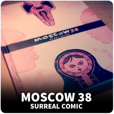 Moscow 38 is a surreal book that deals with adult themes like cults and human trafficking.
