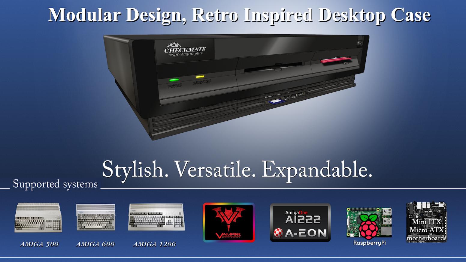 Amiga 3000 inspired modular Amiga/PC desktop computer case by