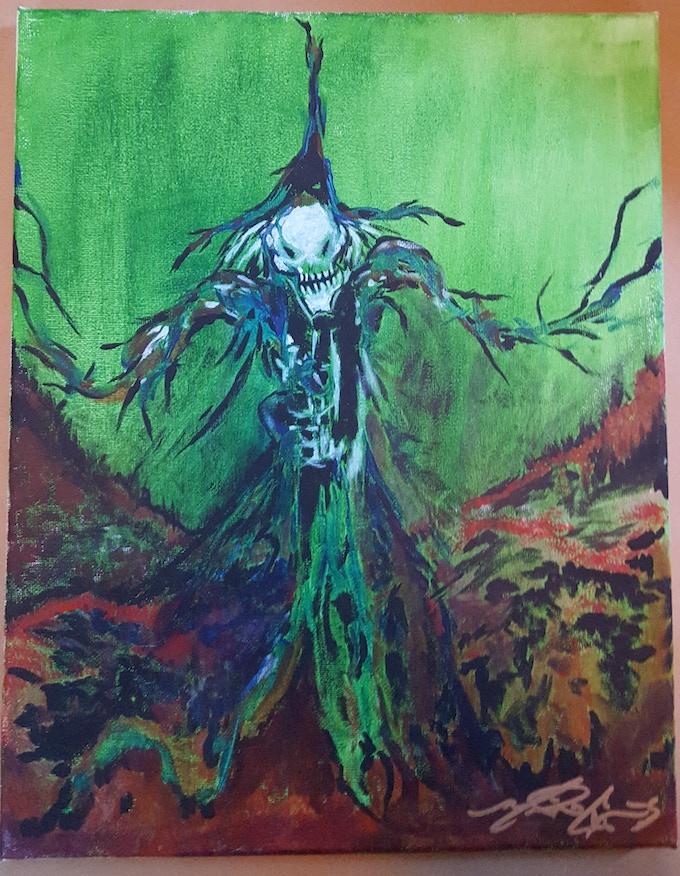 An example monster original artwork