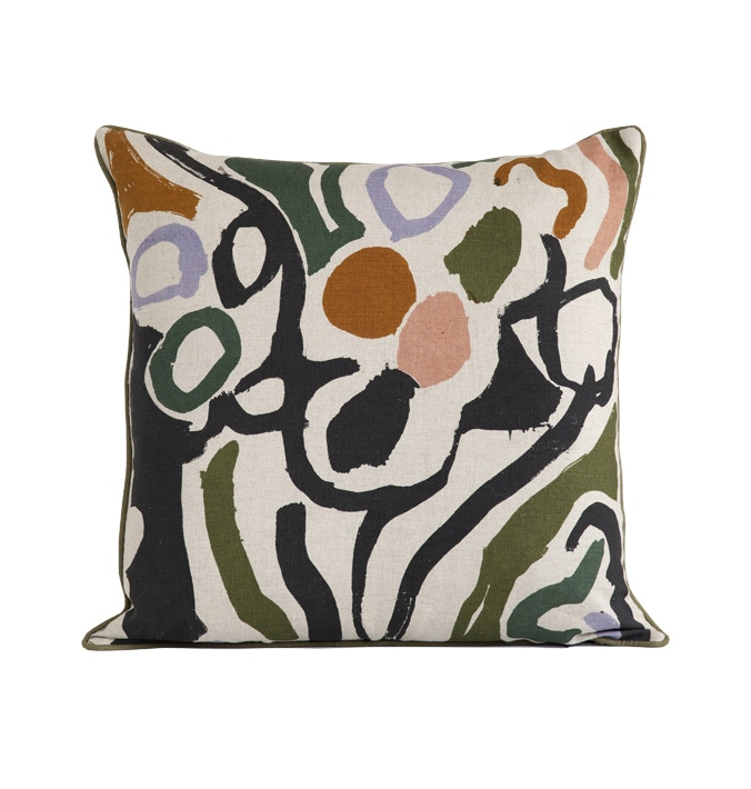 NEW!- COVE 55 x 55cm cushion- Hand Screen Printed