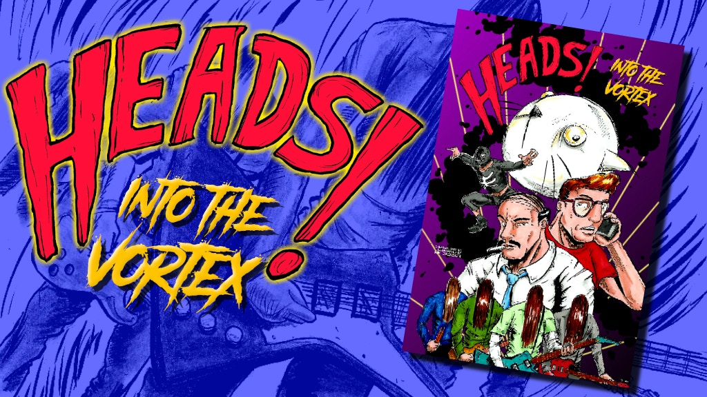 Heads! Into The Vortex - sci-fi private detective comic project video thumbnail