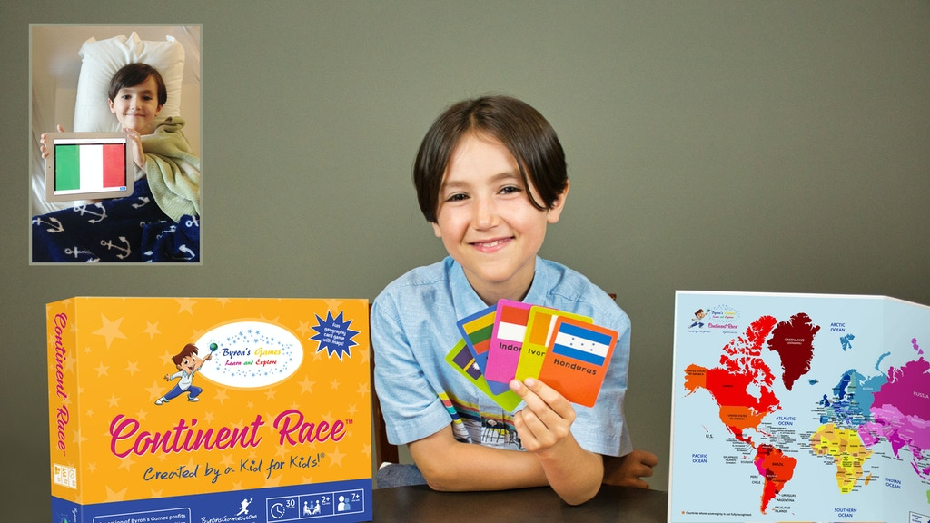 Continent Race - a game created by a kid for kids! project video thumbnail