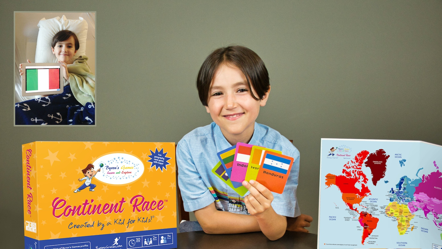 A geography game for children—back one and give one to kids in hospitals across the country. Thanks to you, Backers, we're sending 150 games to Children's Hospitals across the US! Continent Race is now available on AMAZON!