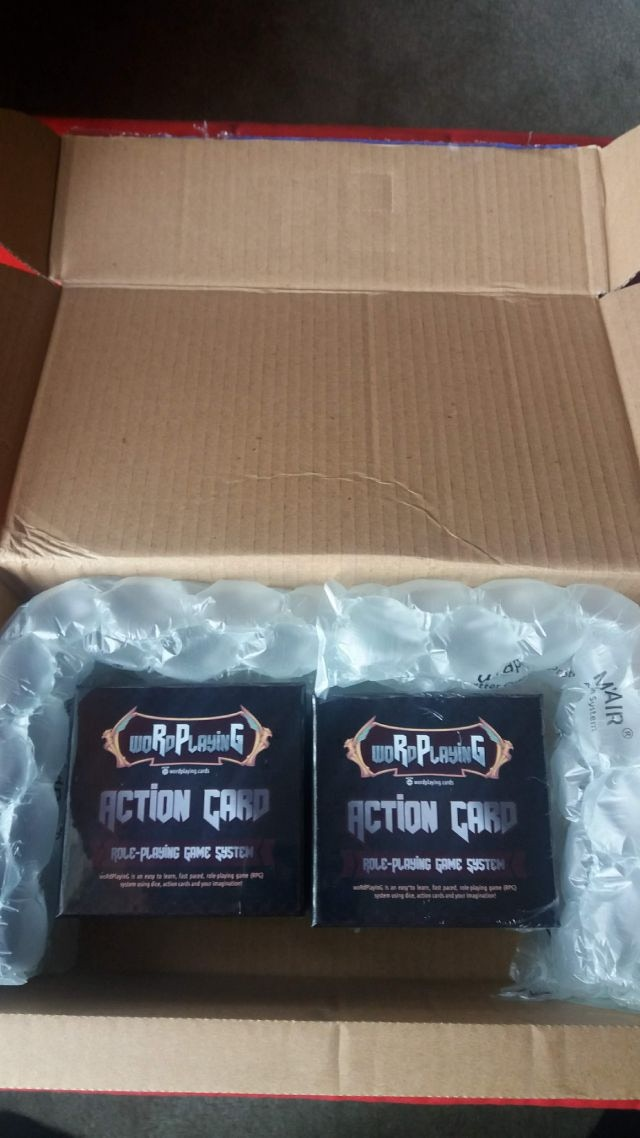 Here's two woRdPlayinG game boxes shipped together in box.