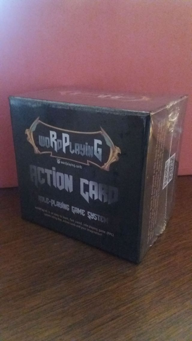 Here's one shrinkwrapped woRdPlayinG game box.