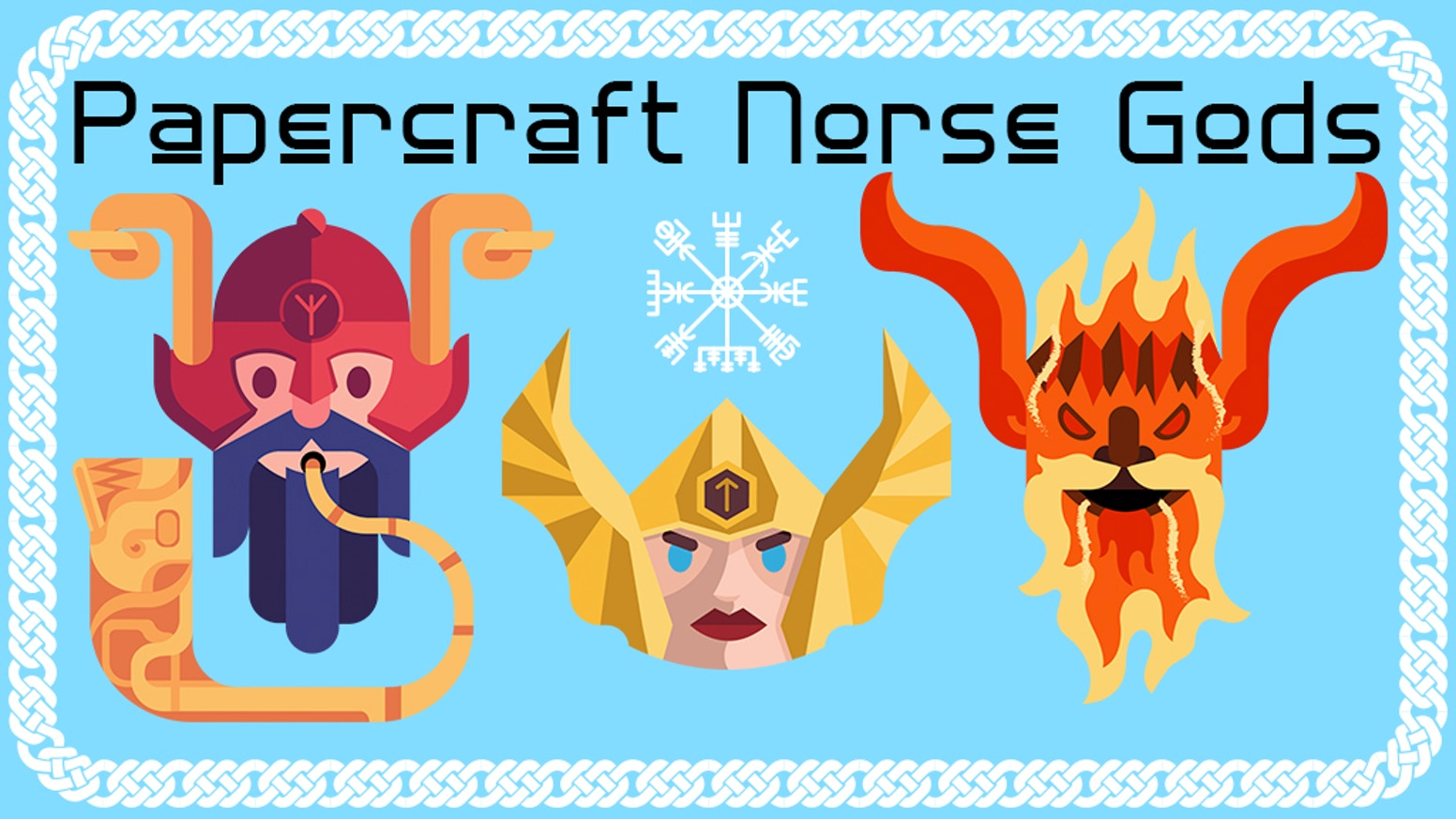 A fun papercraft toy and vinyl sticker project, featuring your favorite characters from Norse Mythology like Thor, Odin and Loki!