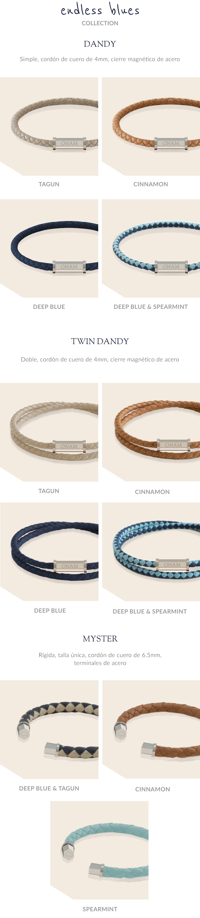23775167cf6f LEATHER BRACELETS FOR MEN by ONAM — Kickstarter
