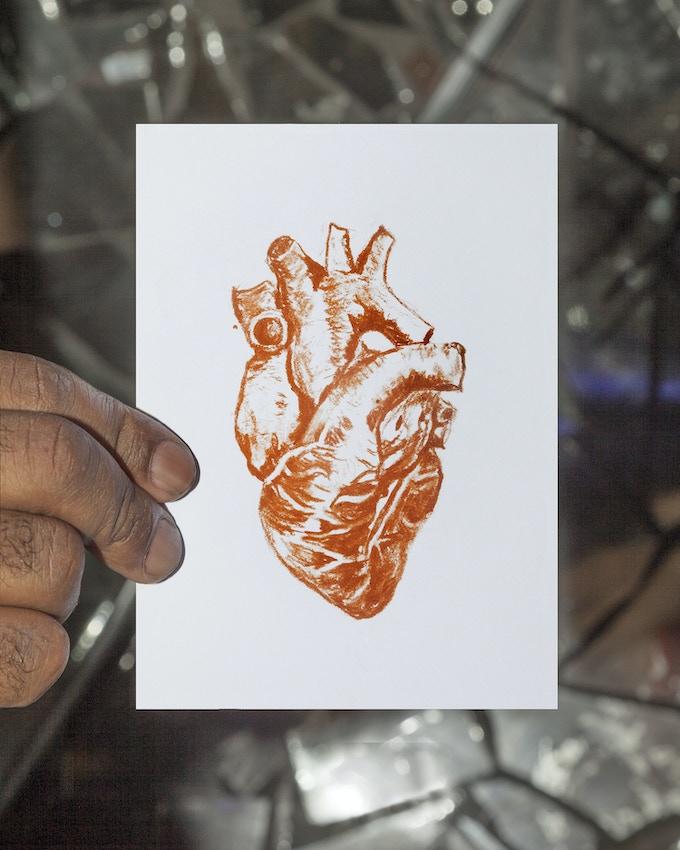 Reward #1: Human Heart Postcard