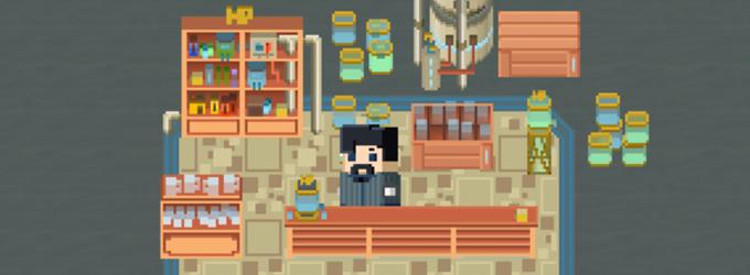 Vendor at his shop