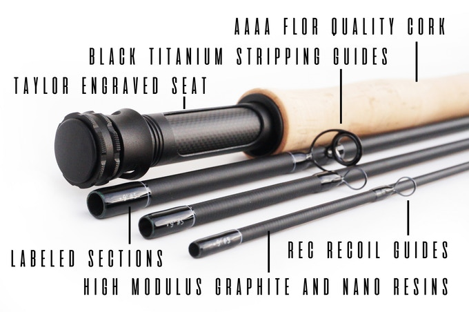 Taylor Revolution Z/Carbon Fiber + Aluminum Fly Fishing Reel by