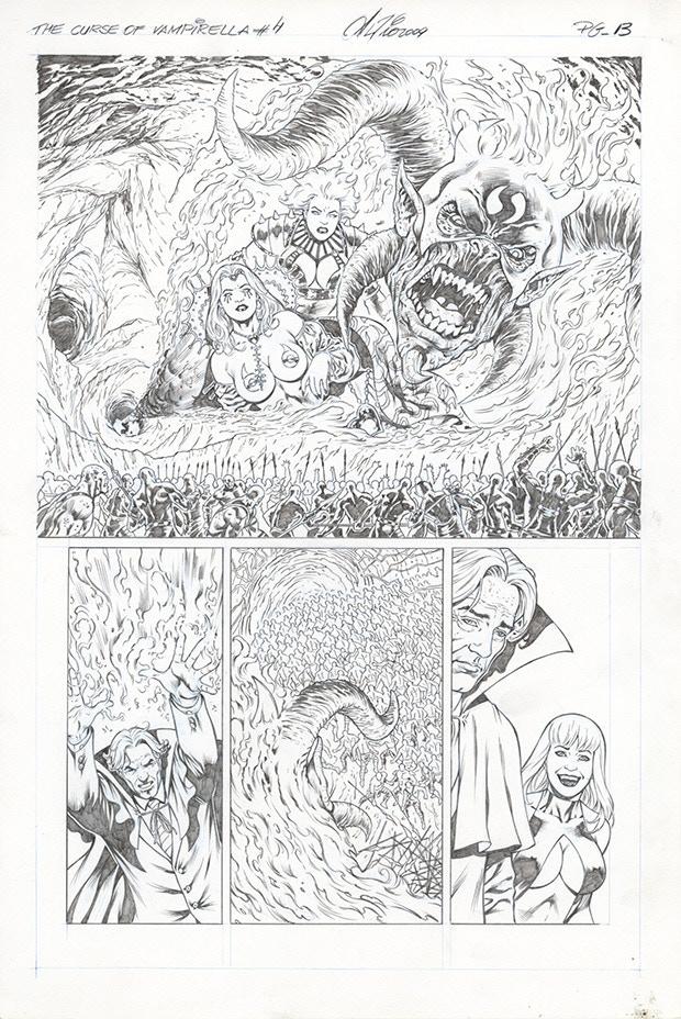 Vampirella Original Art Page by Al Rio