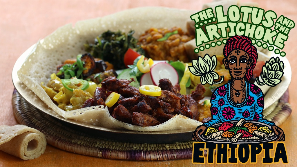The Lotus and the Artichoke - ETHIOPIA vegan cookbook project video thumbnail
