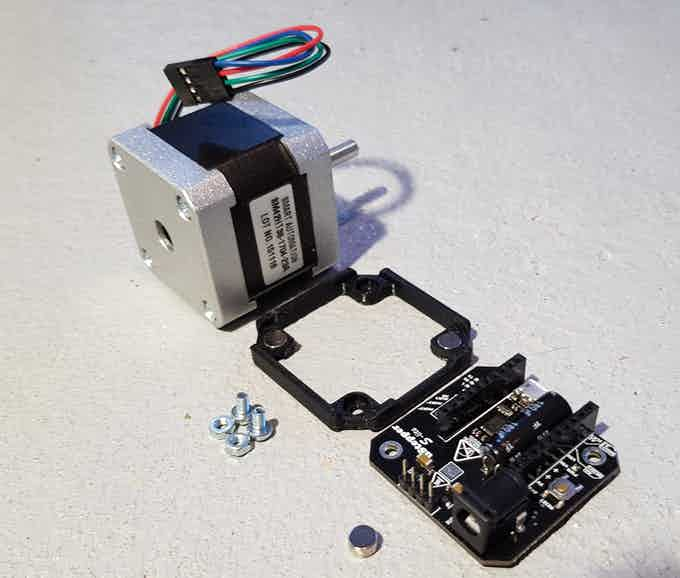 Parts for assembly of NEMA 17 and uStepper S-lite