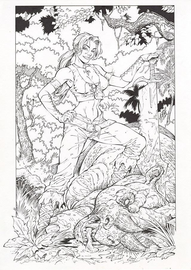 Rynn, from Drakan Original Art by Al Rio