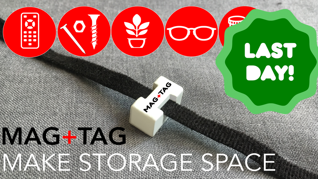 MAG+TAG - Super useful Magnet ties to Add Storage Space by
