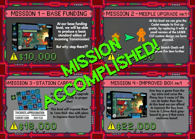 Missions Accomplished so far
