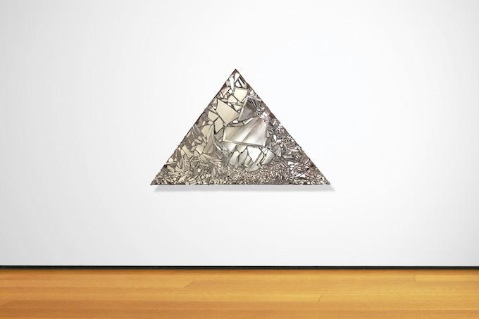 Reward #7: Signed Mirror Mosaic Triangle Sculpture