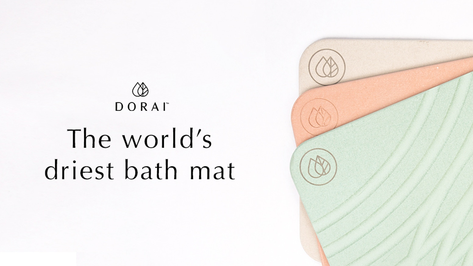 The Dorai bath mat is created from a rapidly drying material that expels moisture. It keeps your home free of mold and bacteria.