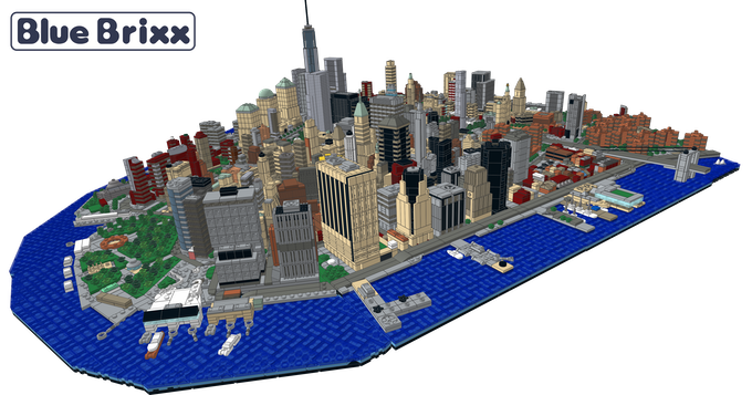Complete Downtown Manhattan model