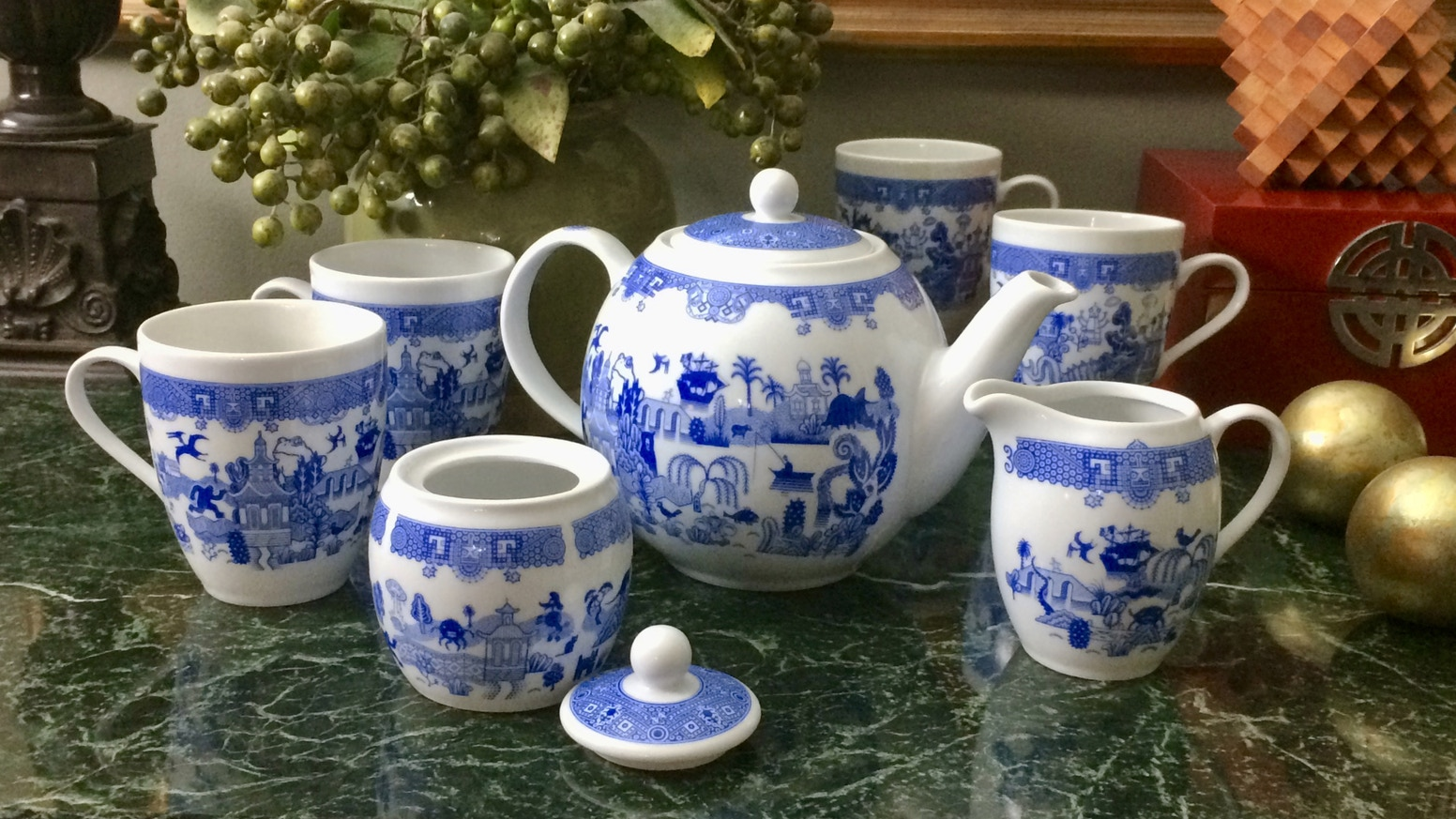 Astonishing porcelain tea set to remind you of how good you have it.