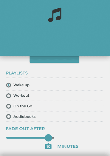 Everything's better with music. Play music from your device's playlist.