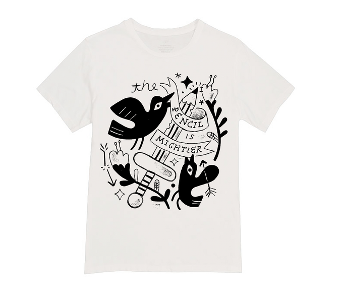 T-Shirt Color Option 2 - Black on White