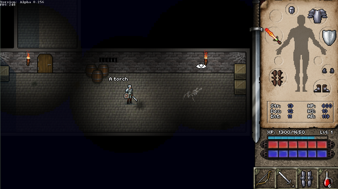 Explore caves and dungeons in classic RPG style.