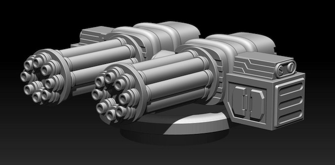 A little bit of firepower!! Fits all the turrets!