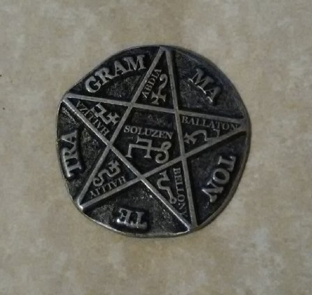 Solomons Pentacle coin