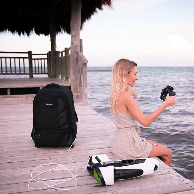 As a thank you, each Kickstarter Backer will receive a FREE BW-Space waterproof roller/backpack custom carrying case.
