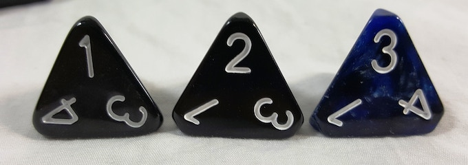 Left to right: V1 - V2 - V3. Each new mold and polish process makes our dice better