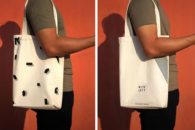 Our very own design Tote Bag - The long and slim shape makes you look clean yet stylish!