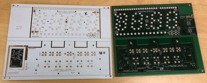 Comparing the boards, both in panel