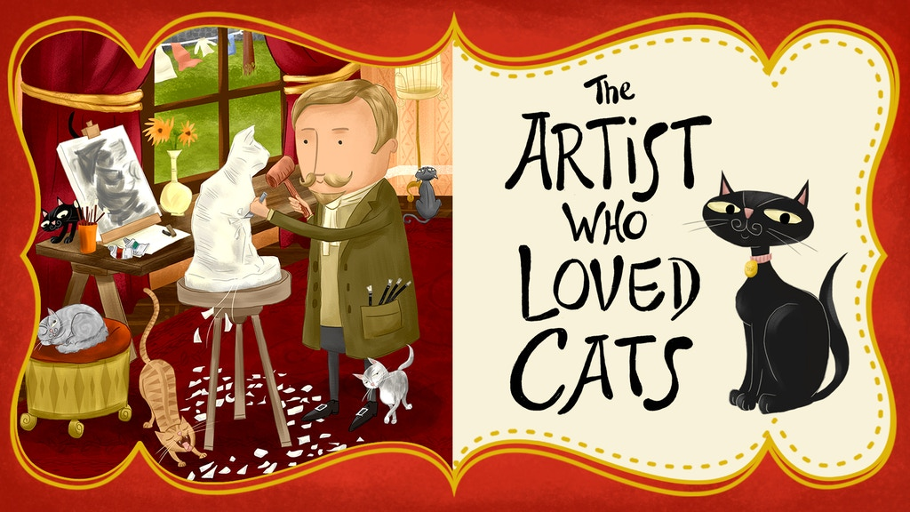 The Artist Who Loved Cats, a picture book biography project video thumbnail