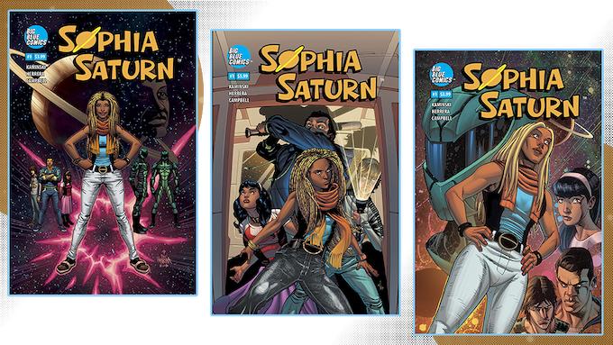 Sophia Saturn #1 Covers