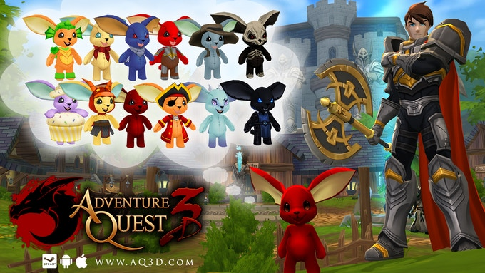 AdventureQuest 3D is a free online world for your phone, tablet, or computer