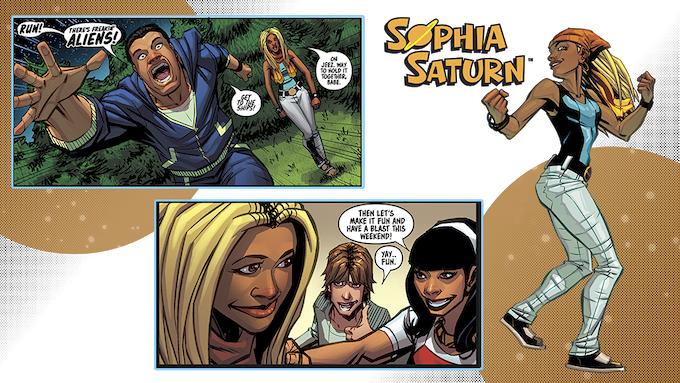 Sophia Saturn #1 - Lettered Panels
