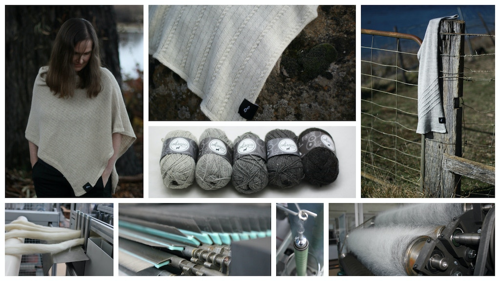 Adagio made - sustainable slow fashion - knitted clothing project video thumbnail